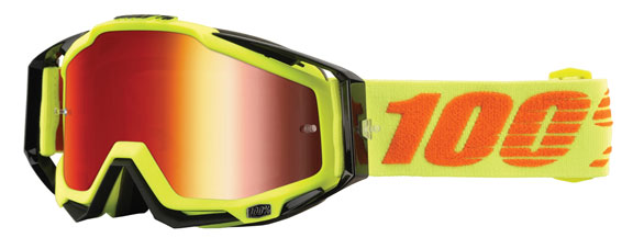 RaceCraft goggle, attack yellow (mirror red)