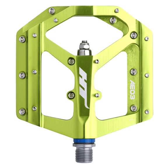 AE03 Evo platform pedals, CrMo - apple green
